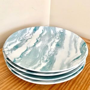 The Grainhouse Blue Marble Pattern Dishes (4)